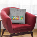 3 Owls Throw Pillow By Mark Ashkenazi