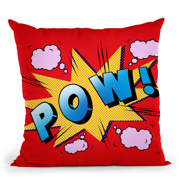 Pow Throw Pillow By Mark Ashkenazi