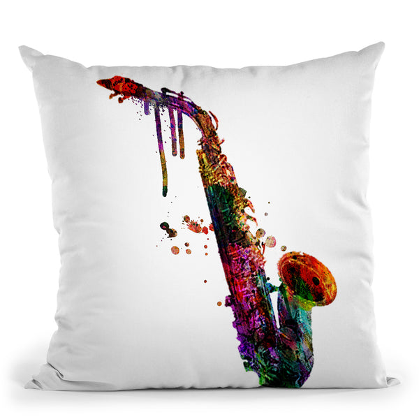 Saxophone Ii Throw Pillow By Mark Ashkenazi