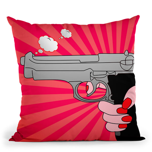 Pointed Gun Throw Pillow By Mark Ashkenazi