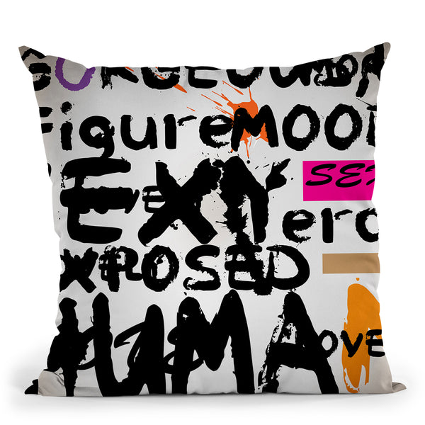 Abstract Of Words Ii Throw Pillow By Mark Ashkenazi