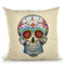 White Skull Throw Pillow By Mark Ashkenazi