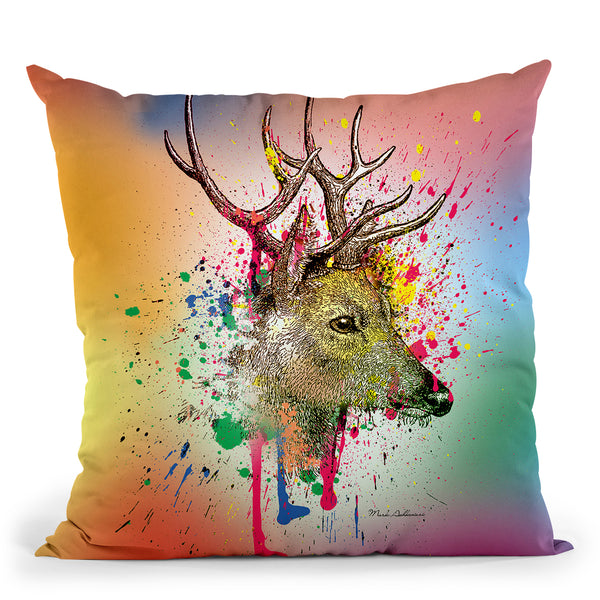 Deer Vi Throw Pillow By Mark Ashkenazi