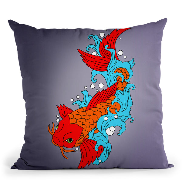 Koi Fish Iv Throw Pillow By Mark Ashkenazi