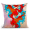 Koi Fish Vi Throw Pillow By Mark Ashkenazi