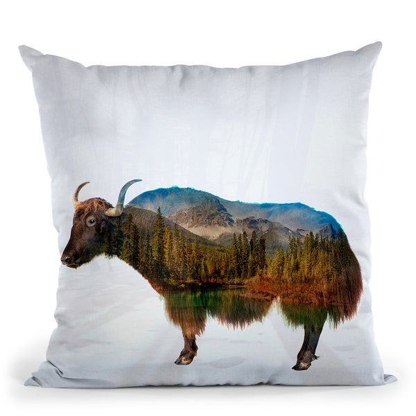 Yak Throw Pillow By Mark Ashkenazi