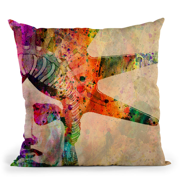Statue Of Liberty Throw Pillow By Mark Ashkenazi