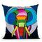 Elephant Midnight Throw Pillow By Mark Ashkenazi