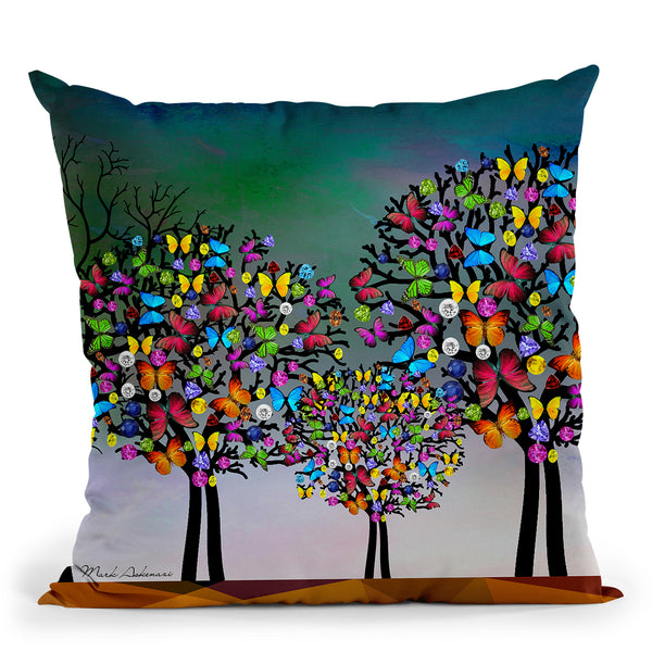 Mark Tree Throw Pillow By Mark Ashkenazi