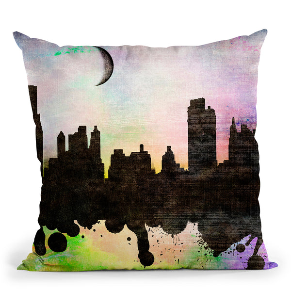 New York Ii Throw Pillow By Mark Ashkenazi