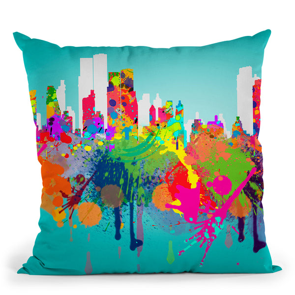 New York Iii Throw Pillow By Mark Ashkenazi