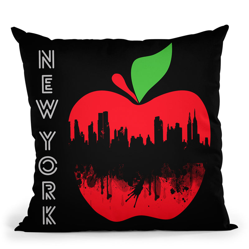 New York Iv Throw Pillow By Mark Ashkenazi