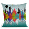 New York Reflection Throw Pillow By Mark Ashkenazi