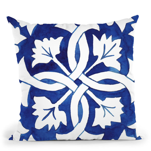 Andaluz Tile 1 Throw Pillow By Mercedes Lopez Charro
