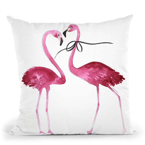 Flamingos Throw Pillow By Mercedes Lopez Charro