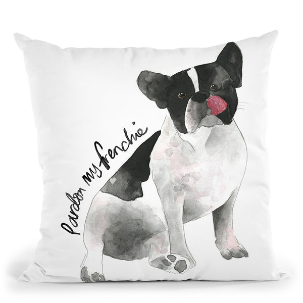Frenchie Throw Pillow By Mercedes Lopez Charro