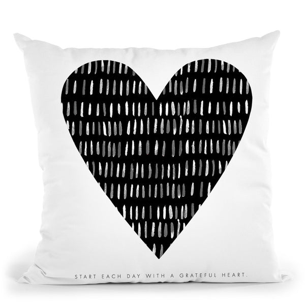 Grateful Heart Throw Pillow By Mercedes Lopez Charro