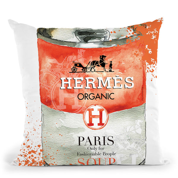 Hermes Cushion Throw Pillow By Mercedes Lopez Charro