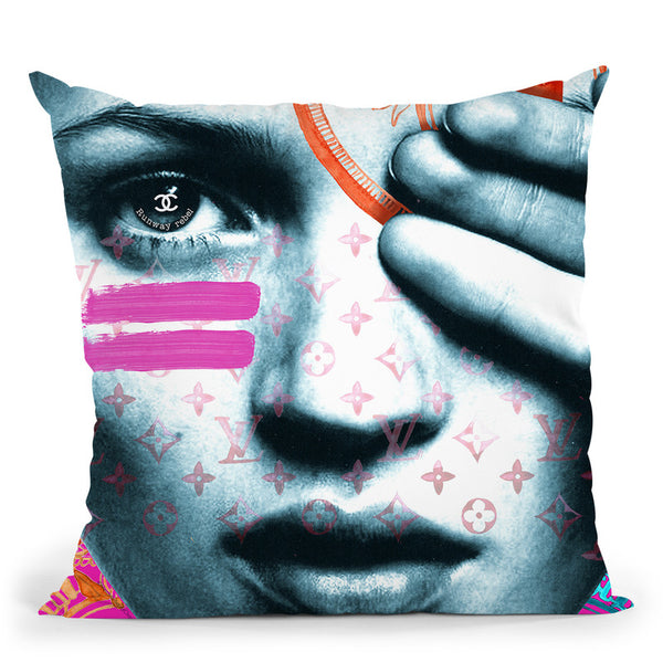 Kate Rebel Throw Pillow By Mercedes Lopez Charro