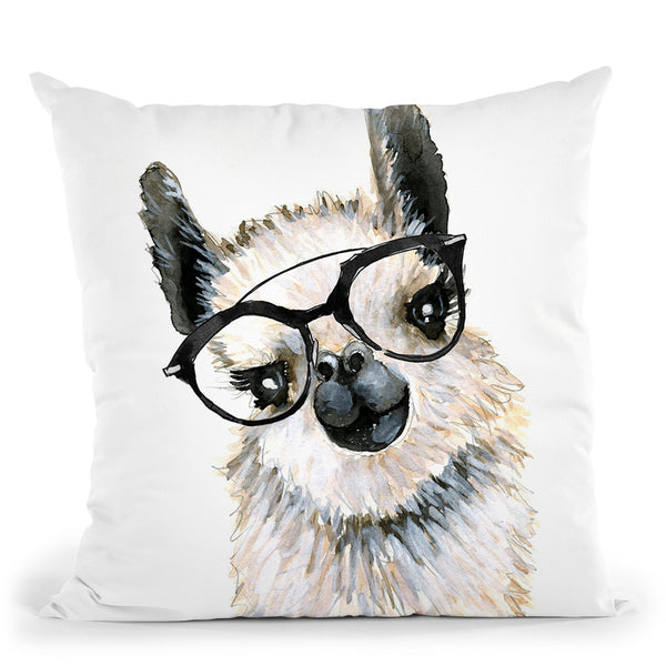 Llama Throw Pillow By Mercedes Lopez Charro