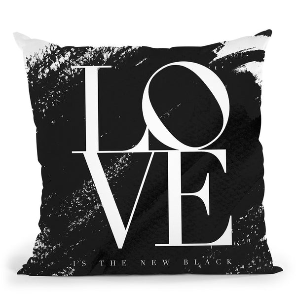 Love Is The New Black Throw Pillow By Mercedes Lopez Charro