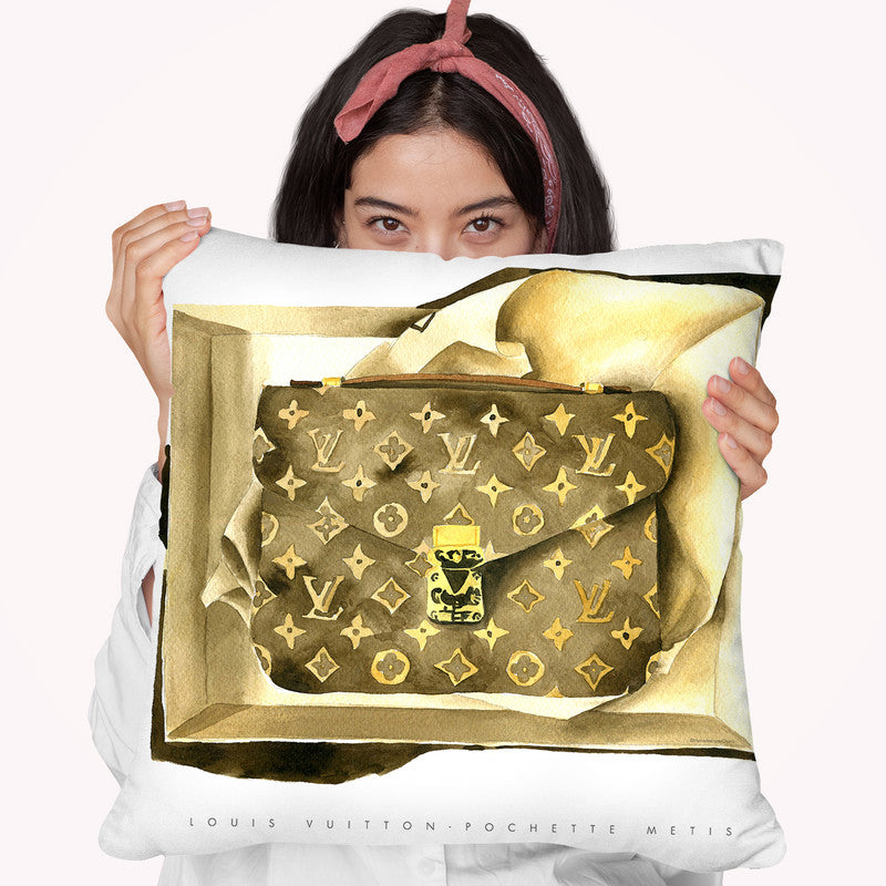 Lv Bag Throw Pillow By Mercedes Lopez Charro