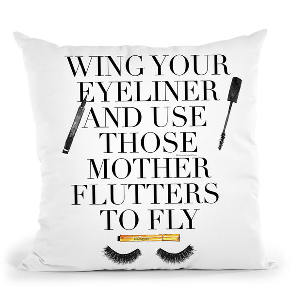 Mother Flutters Cushion Throw Pillow By Mercedes Lopez Charro