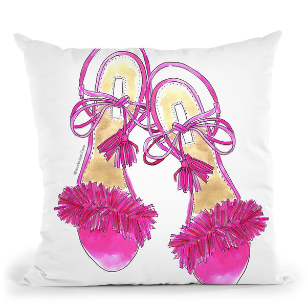 Pinkoes Throw Pillow By Mercedes Lopez Charro