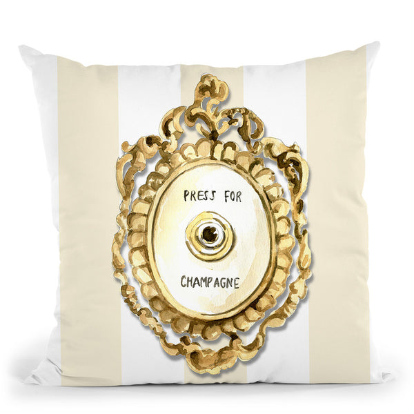 Press For Champagne Throw Pillow By Mercedes Lopez Charro