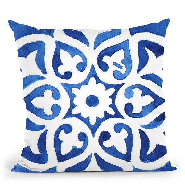 Tile 2 Throw Pillow By Mercedes Lopez Charro