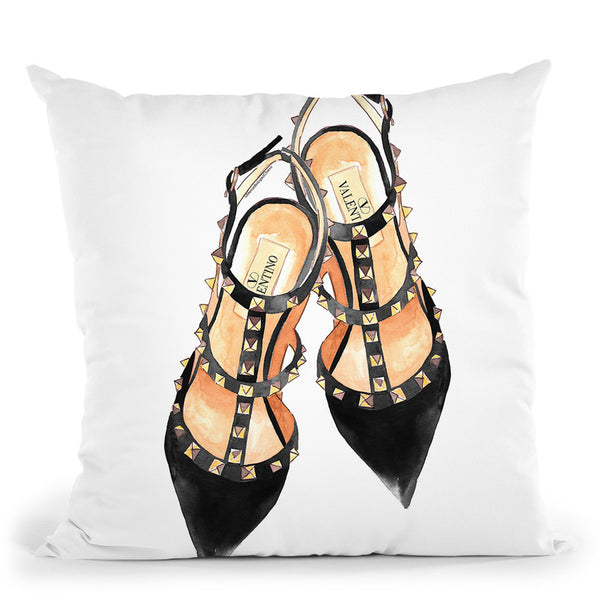Valentinooes Throw Pillow By Mercedes Lopez Charro