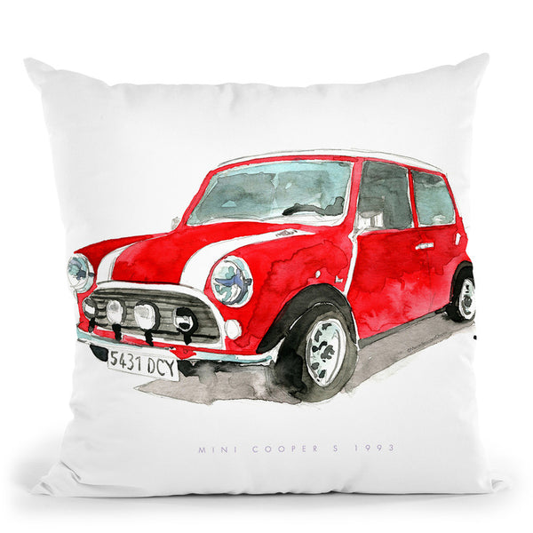 Vintage Mini Throw Pillow By Mercedes Lopez Charro