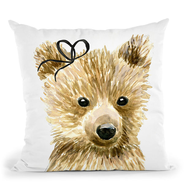 Bear Throw Pillow By Mercedes Lopez Charro