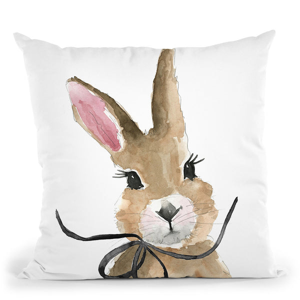Bunny Throw Pillow By Mercedes Lopez Charro