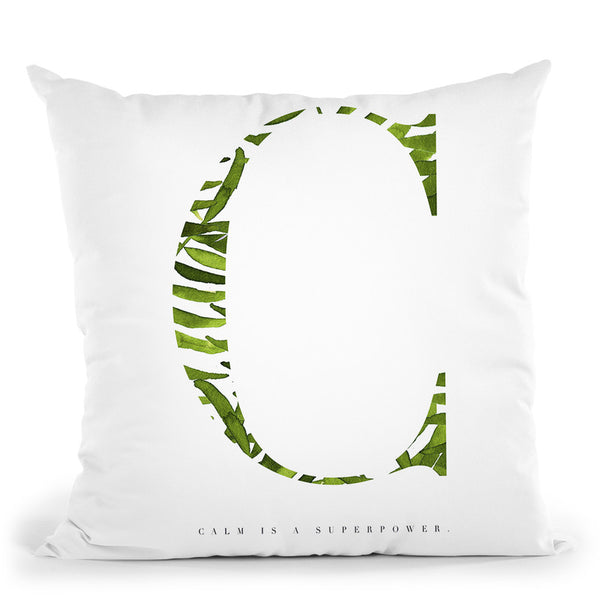 Calm Is A Superpower Throw Pillow By Mercedes Lopez Charro
