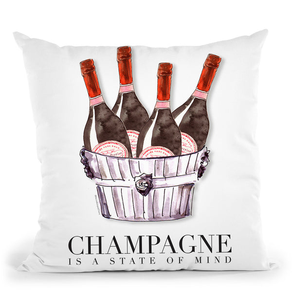 Champagne State Of Mind Throw Pillow By Mercedes Lopez Charro