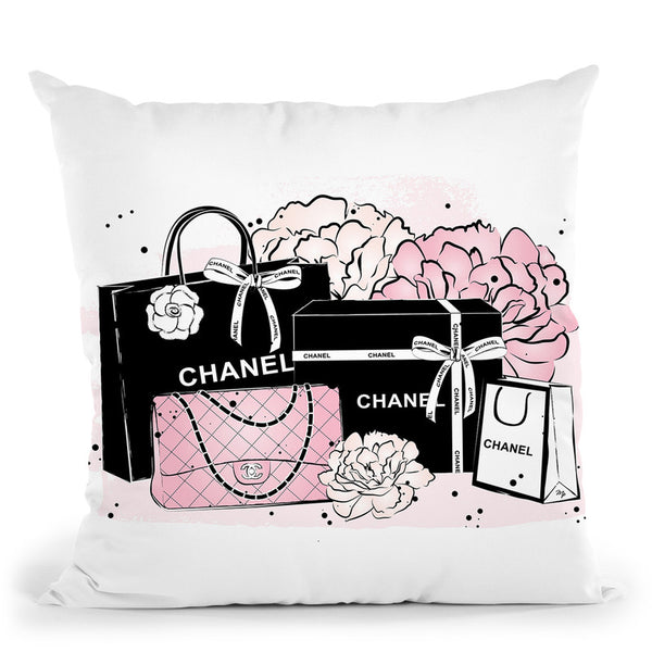 Shopping Bags Throw Pillow By Martina Pavlova