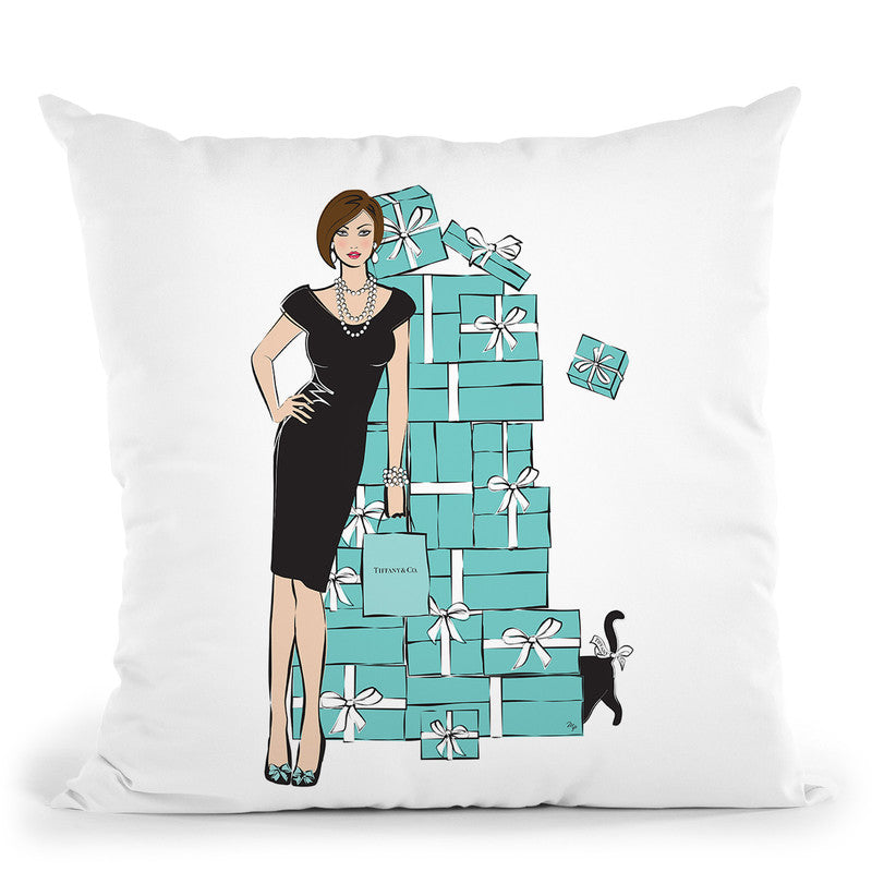 Tiffany Girl Light Throw Pillow By Martina Pavlova