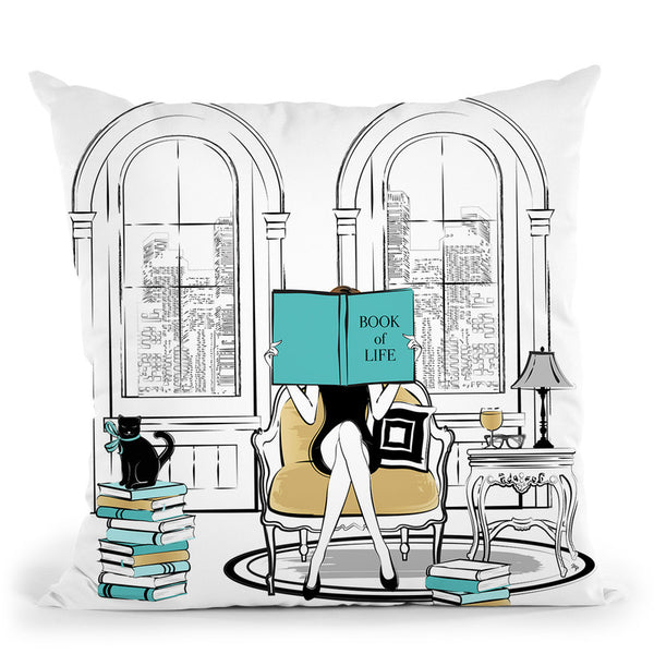 Book Of Life Throw Pillow By Martina Pavlova