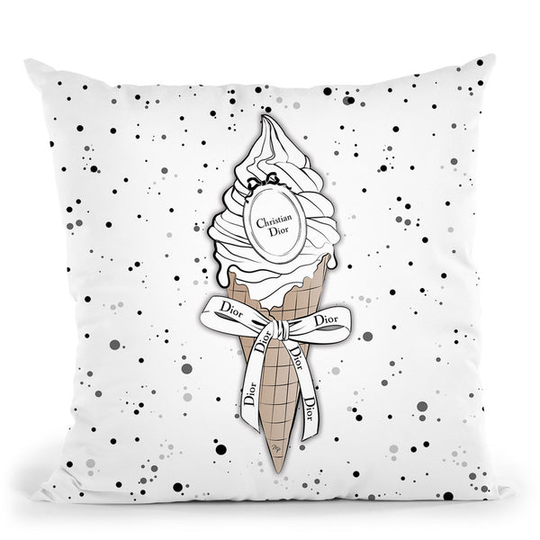 Dior Ice Cream Throw Pillow By Martina Pavlova