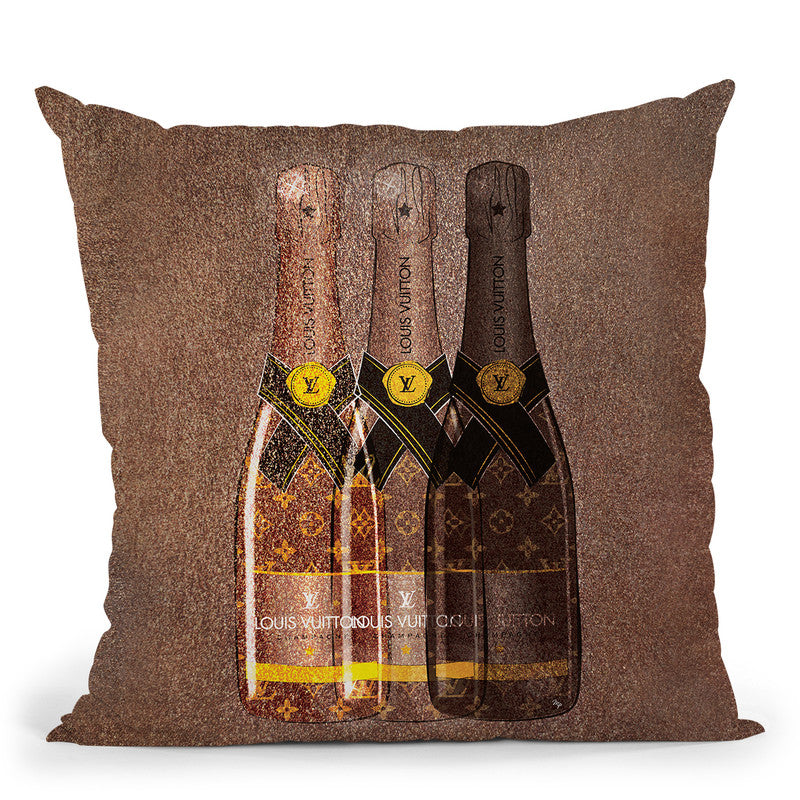 Lv Champagne Throw Pillow By Martina Pavlova