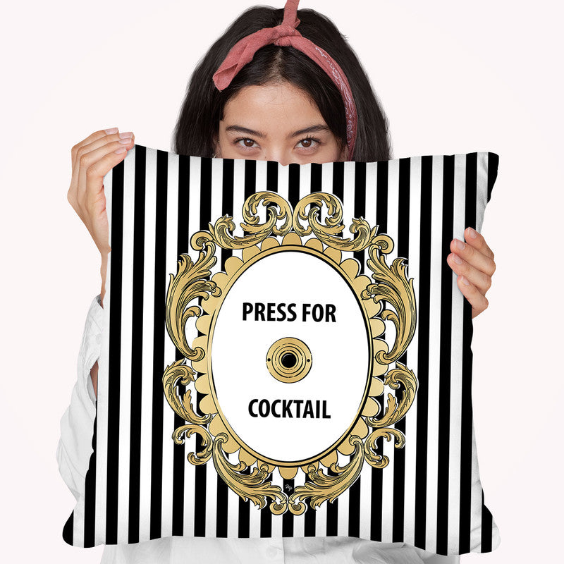 Press For Cocktail Throw Pillow By Martina Pavlova