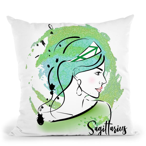 Sagittarius Throw Pillow By Martina Pavlova