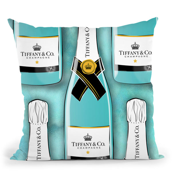 Tiffany Bottles Throw Pillow By Martina Pavlova