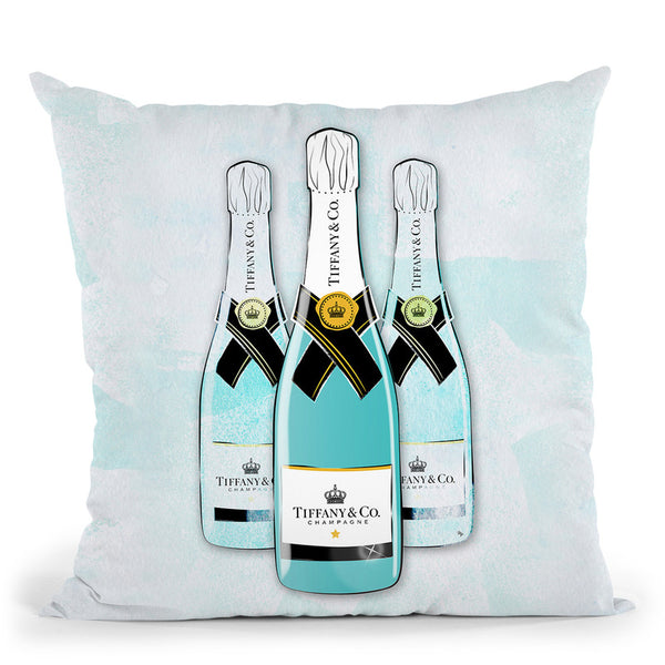 Tiffany Champagne Throw Pillow By Martina Pavlova