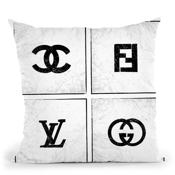 Brand Logos Throw Pillow By Martina Pavlova
