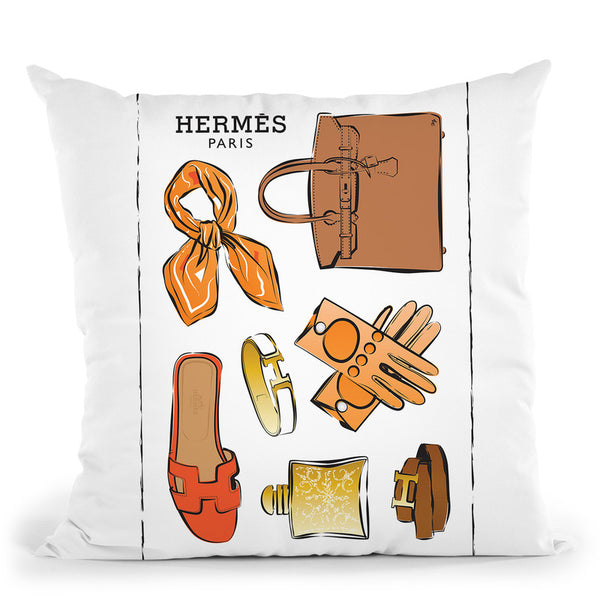 Hermes Accessories Throw Pillow By Martina Pavlova