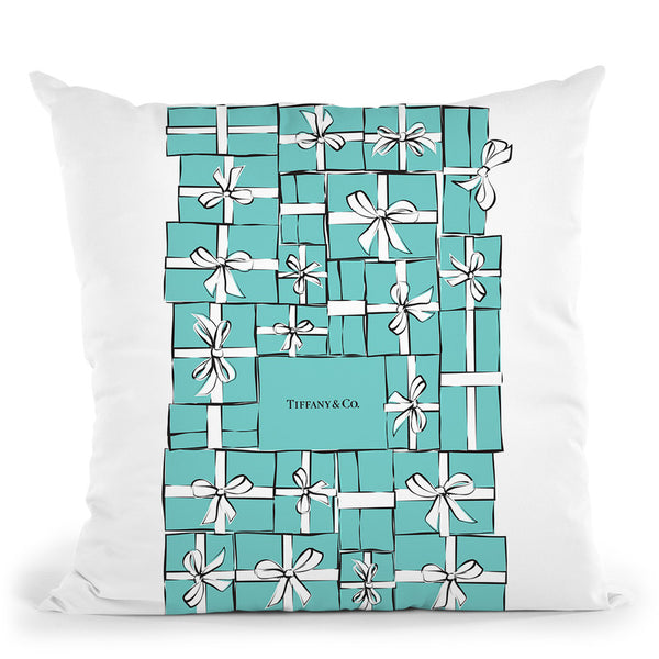 Tiffany Boxes Throw Pillow By Martina Pavlova
