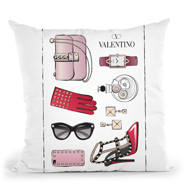 Valentino Accessories Throw Pillow By Martina Pavlova