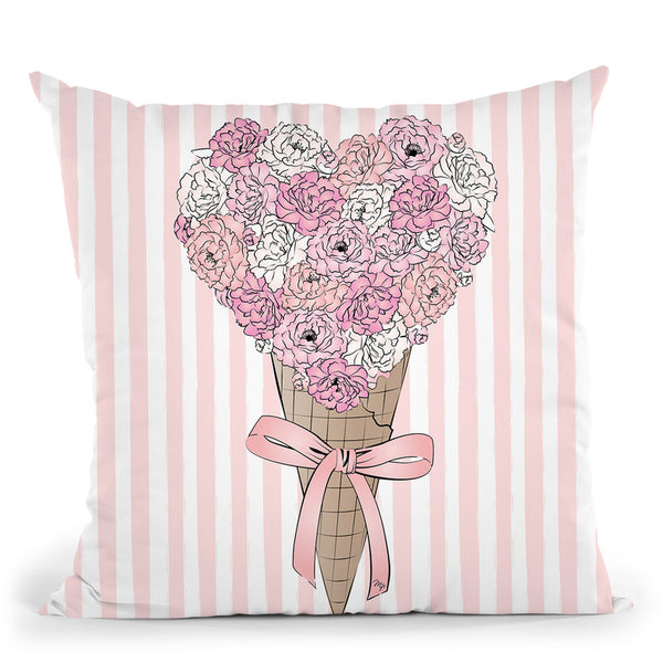 Flower Ice Cream Throw Pillow By Martina Pavlova